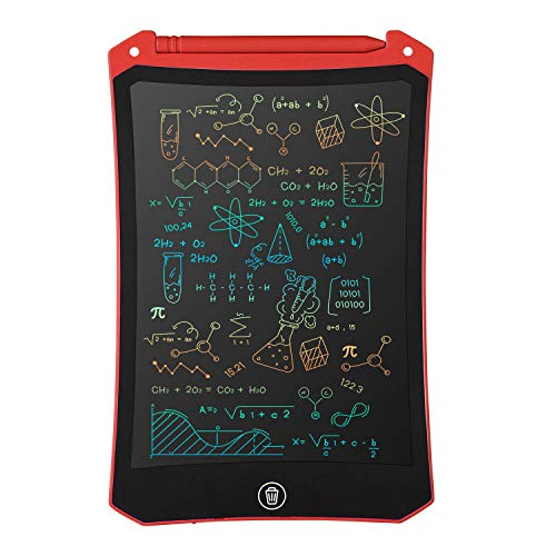 LCD Writing Tablet, Electronic Digital Writing &Colorful Screen Doodle Board, cimetech 8.5-Inch Handwriting Paper Drawing Tablet Gift for Kids and Adults at Home,School and Office (Red)
