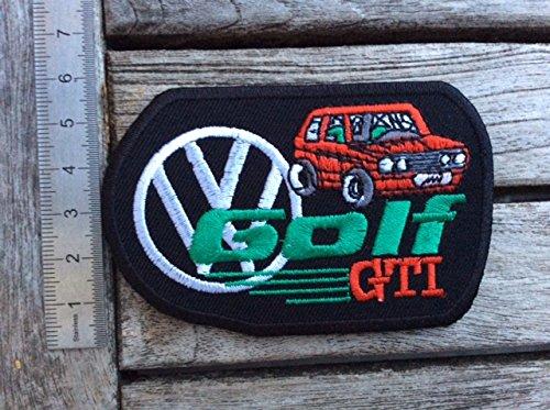 """Blue Hawai Aufnäher """"Golf GTI"""", zum Aufbügeln"""