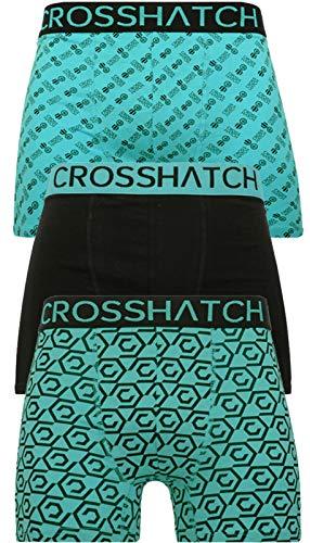 CrossHatch Herren Boxershorts, Gleason-Schwarz Grün, L