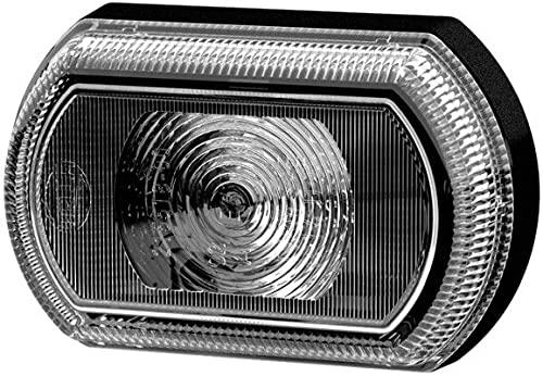 HELLA 2PF 013 323-221 Feu de position - Shapeline Tech Slim - LED - 12/24V - collé - Couleur du voyant: gris - Câble: 250mm - avant gauche/avant droite