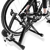 DRMOIS Bicicleta estática plegable, incluye cambio de 6 marchas para bicicleta de carretera, 24 a 28 pulgadas, de acero