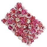 Romantische Blumenwand Kunstblumen Deko Wand als Fotografie Requisiten und Wohnkultur, aus Seiden - Farbverlauf Rosenrot