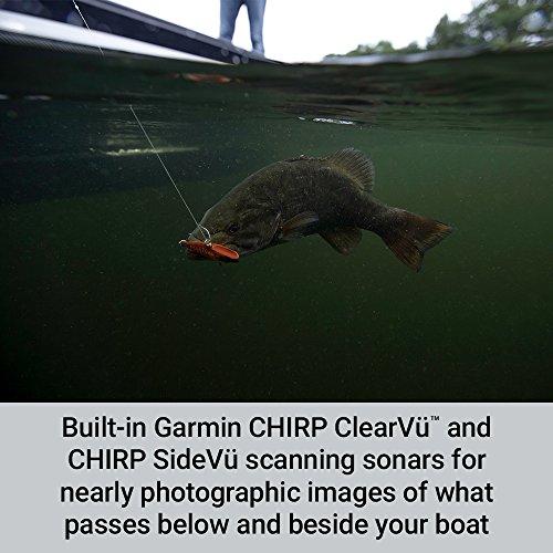 Garmin Striker Fishfinder with Chirp Traditional, ClearVu and SideVu Scanning Sonar Transducer