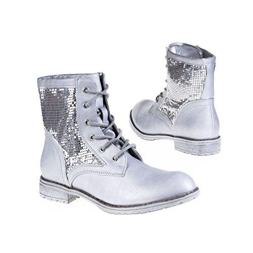 SDS, Damen Stiefel & Stiefeletten , silber - silberfarben - Größe: 37 EU