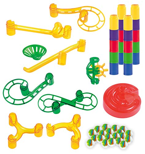 JOYIN Marble Run Premium Booster Toy Set (50 Pcs), Add-On Set for Marbulous Marble Run Toy Set