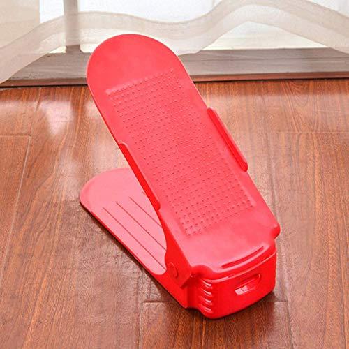 WLGQ Gabinete de Zapatos a Prueba de Polvo 8 Piezas Organizador de Zapatos de plástico Duradero Estante de Almacenamiento de Zapatos de Doble Ancho Independiente Estante de Almacenamiento de ZAPA