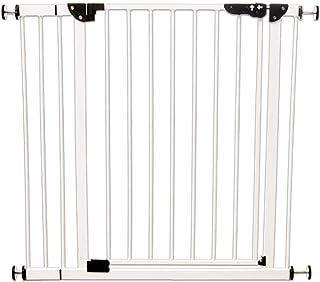 アイリスプラザ ベビーゲート 片手で開閉スムーズ (拡張付き) 設置幅70-91cm 突っ張りタイプ 安全ロック 保証付き ホワイト
