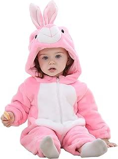 wuayi Unisex Baby Junge M/ädchen Tiere B/är Cosplay Flanell Verdicken Mit Kapuze Lange /Ärmel Strampler Body Jumpsuit Romper Overall Schlafstrampler Pyjamas Winter