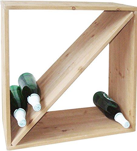 Weinregal Weinständer Wein - Regal Holz massiv Weinflaschen - Regalsystem Stand (SAAR)