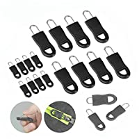 16個ユニバーサル取り外し可能なジッパープルセット、スーツケース、バックパック、服、バッグ、荷物用のU字型ジッパープル (ブラック)