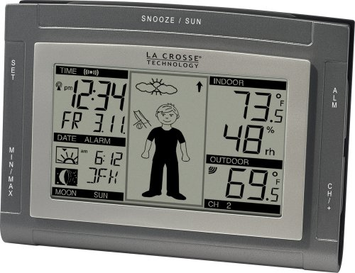 La Crosse Technology WS-9611TWC-IT - Estación meteorológica (Monocromo, AA, Gris, Plata, 89 x 127 x 30 mm)
