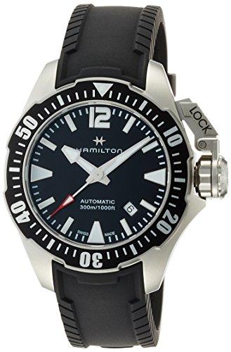 [ハミルトン] 腕時計 カーキネイビー オープンウォーター オート ダイバーズ H77605335 正規輸入品 ブラック