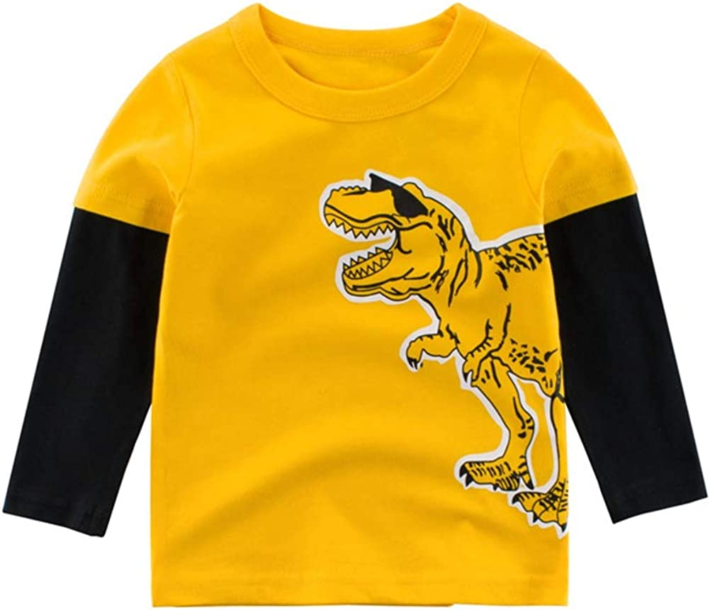 Zerototens Baby Boys Letter Printing Sweatshirts Long Sleeve T Shirt Threaded Cuffs Crew-Neck Pullover Toddler Kids Clothes Casual Cotton Tops Age 3Months-8 Years
