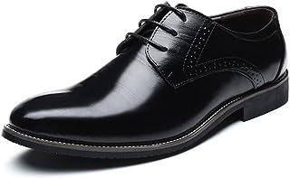 [WEWIN] ビジネスシューズ メンズ 本革 ウォーキング 大きいサイズ 革靴 カジュアル レースアップ ファッション 柔らかい 軽量 防滑