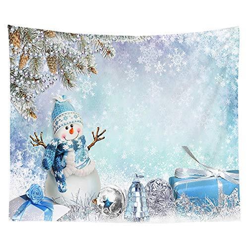 KHKJ Tapiz con Estampado de árbol de Navidad para Colgar en la Pared, decoración de Tela, Tapiz Rojo de Papá Noel, decoración de la Pared de la habitación del hogar, A2 230 * 180 cm