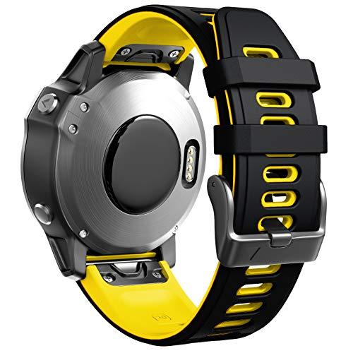 ANBEST Braccialetto Compatibile con Cinturino Fenix 6S/Fenix 5S/Fenix 6S Pro/Fenix 5 Plus, Cinturino di Ricambio in Silicone Morbido per Orologio Intelligente D2 Delta S