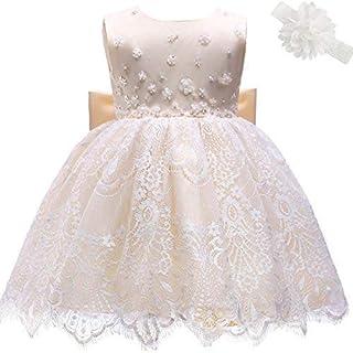 3c383256b7a68 AHAH Bébé Fille Robe Princesse Robe De Fille De Fleur Robe De Baptême Robe  De Fête