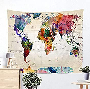 Best world map wall tapestries Reviews