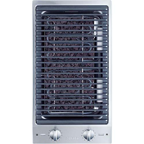 Grill eléctrico para encimera modelo CS 1312 BG, 1Z mandos rotativos, color gris, 52 x 29 x 15 centímetros (referencia: Miele 27131250P)