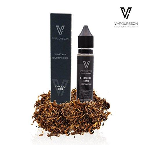 Preisvergleich Produktbild Vapoursson 30ml Classic Tabak 0mg E-Flüssigkeit,  Shortfill Nikotinfreie Flaschen,  50 / 50 PG / VG - Starke echte Aromen,  Für E-Shisha und E-Zigaretten / e flüssig