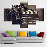 Movie Theater Decor Black and White Pictures Reel of Film Wall Art Multi Panels Prints on Canvas Movies Clapperboard Artwork Modern Paintings for Home Framed Gallery-Wrapped Ready to Hang(60''Wx40''H)