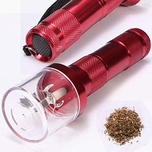 Elettrico allloy metallo Grinder Crusher Crank fumo di tabacco Spice Herb Muller Red