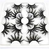 Amapower 7 Pairs False Eyelashes, 8D Mink, 25mm Lashes, Handmade Multilayers Eye Makeup Tools (8D001)