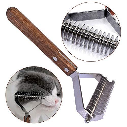 onebarleycorn – Coat King der Trimmstriegel, professioneller Haustier-Dematting-Kamm zum Abisolieren von Hunden und Katzen,14 Klingen