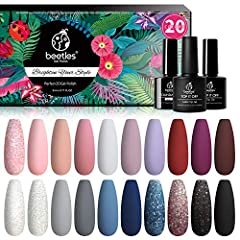 What You Get: 20 x mini gel polish colors (5ml each bottle) + 3 x no wipe base and glossy & matte top coat ( 7.5ml each bottle). 20 colours beautiful shades of popular and trendy colors suitable for all seasons and daily routine life! Modern Muse is ...