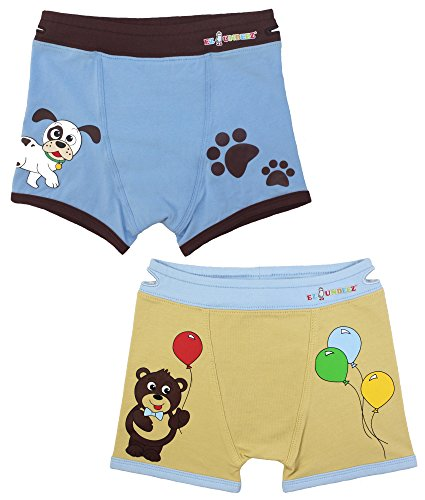 Boys Boxers Toddler Training Underwear with EZ Pull up Handles, Tag Less (2-3 Years, Dog-Bear)
