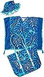 Masala Girls Island Love Caftan Beach - Juego de Accesorios para Playa (12-24 Meses), Color Azul Marino