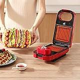 RJJBYY Sandwich Tostadora Waffle Maker 5 En 1 Panini Press Donut Machine Ice Cream Maker