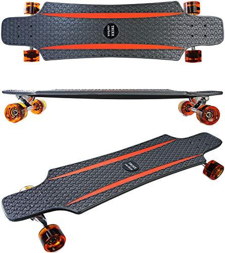 Elfmonkey Longboard Komplettboard | hochwertige Boards - ideal für Anfänger & Profis |: Trixx Carbon