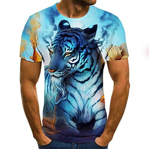 Bier 3D-Druck T-Shirt Es ist Zeit Brief Frauen Männer lustige Neuheit T-Shirt Kurzarm Tops Unisex Outfit Kleidung 4XL Light Blue