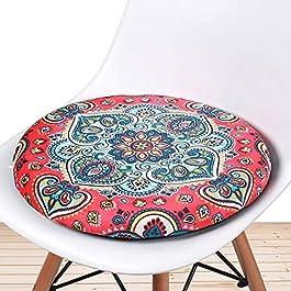 Coussin de siège rond en mousse à mémoire de forme,coussins de siège extérieurs intérieurs tapis de tabouret rond en…