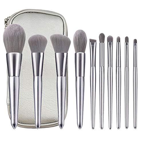 Ensemble De Pinceaux De Maquillage Beauté 11 Pièces Avec Poils Doux En Bois Poignée Et Sac De Rangement
