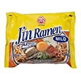 Ottogi Jin Ramen Noodle Mild Hot Spicy (Pack of 5) (Lebensmittel & Getränke)