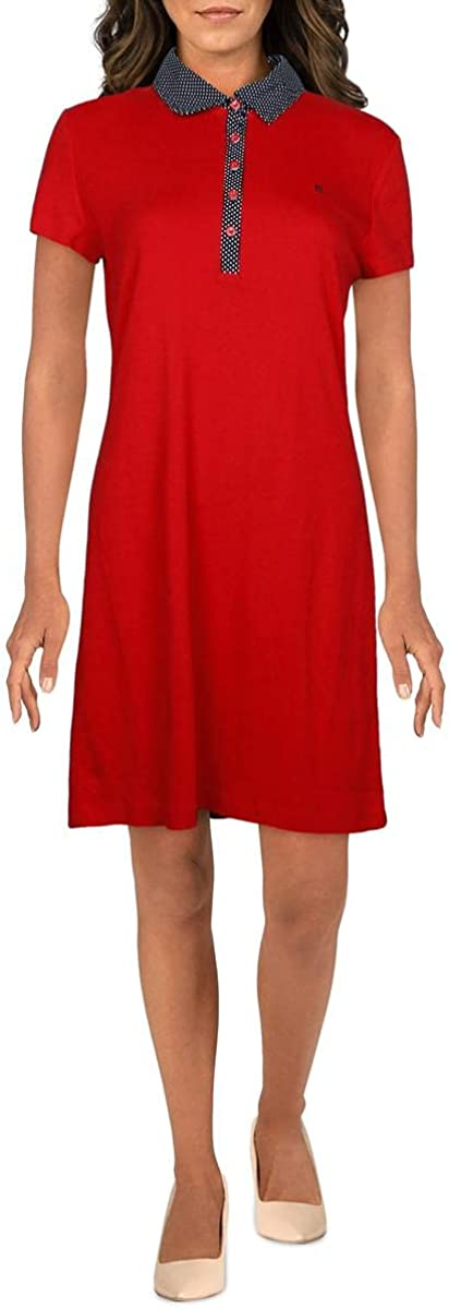 Tommy Hilfiger Women's Short Sleeve Collared Polo Dress
