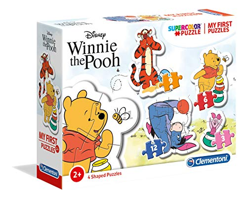 Clementoni- My First Puzzle 3,6,9,12 Piezas Winnie The Pooh (20820.3)