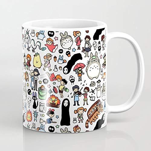 ZIQIZIYU Doodle Kawaii Ghibli 325 ml Taza