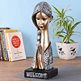 Size of the product:- 15 x 5 inch. Welcome Lady. This is a statue of a lady with her hands folded in the 'Namaskara' or 'Namaste' posture or the 'Mudra'. Across India this posture means - the greetings, just as saying a warm 'hello' Care Instruction:...