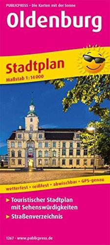 Oldenburg: Touristischer Stadtplan mit Sehenswürdigkeiten und Straßenverzeichnis. 1:14000 (Stadtplan / SP)