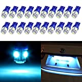 2012 Ford Fusion License Plate Light Bulbs - cciyu T10 License Plate Lights Festoon LED Bulbs 5-5050-SMD Super Bright Ice Blue Interior Car Lights 194 168 W5W 175 2825 161 fit for License Plate Lights Light Bulb Pack of 20