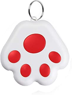 $24 » Smart Key Finder Locator, GPS Tracking Device for Kids Pets Luggage Anti-Lost Alarm Reminder Dog Paw Portable Bluetooth In...