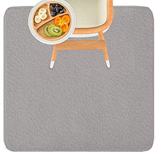 Leather Splat Mat - Waterproof Baby High Chair Floor Mat | High Chair Mat | Splat Mat for Under High Chair | Baby Food Mat | Splash and Spill Mat | Under Highchair Mat