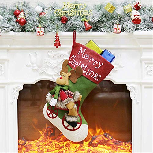 Calcetín de Navidad Molinter, botas de Papá Noel, saco de dulces, bolsa para rellenar, botas de Navidad para chimenea, calcetín de Papá Noel