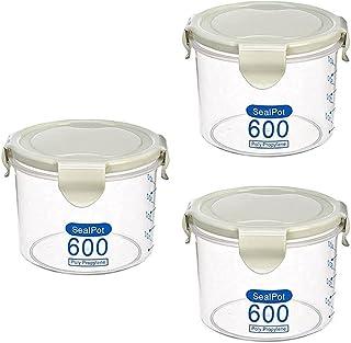 Pkfinrd 3pcs en Plastique Frais de boîte Transparente Nourriture fraîche scellée Collection boîte de Rangement de la boîte...