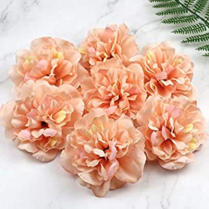 Artificial and Dried Flower 5pcs/Lot Snow Bud Peony Flower Head Silk Artificial Flowers Dahlia Fake Flowers for Wedding Party Prom Decoration