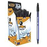 Bic Cristal Soft - Bolígrafo de bola negro (50 unidades)
