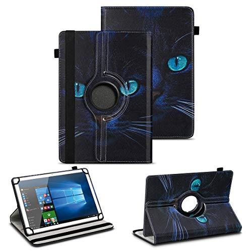 NAUC Tablet Schutzhülle kompatibel für TrekStor Surftab Breeze 7.0 Tasche Hülle mit Standfunktion 360° drehbar hochwertiges Kunst-Leder Cover Universal Hülle, Farben:Motiv 7